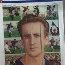 Coleccionismo deportivo: BASORA, ZAMORA, RAMALLETS I KUBALA 4 PLANCHAS COMPLETAS DE 15-18 CARTULINAS . Lote 152177414
