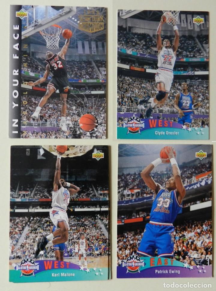 LOTE 4 CROMOS UPPER DECK 92-93 NBA 1992 1993 92 93 Nº: 9 14 18 Y 26 NBA MINER EWING MALONE (Coleccionismo Deportivo - Cromos otros Deportes)