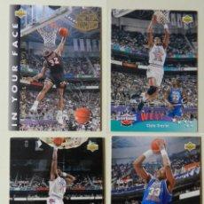 Coleccionismo deportivo: LOTE 4 CROMOS UPPER DECK 92-93 NBA 1992 1993 92 93 Nº: 9 14 18 Y 26 NBA MINER EWING MALONE. Lote 153049486