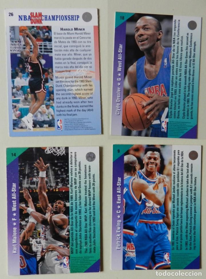 Coleccionismo deportivo: Lote 4 CROMOS UPPER DECK 92-93 NBA 1992 1993 92 93 nº: 9 14 18 y 26 NBA Miner Ewing Malone - Foto 2 - 153049486