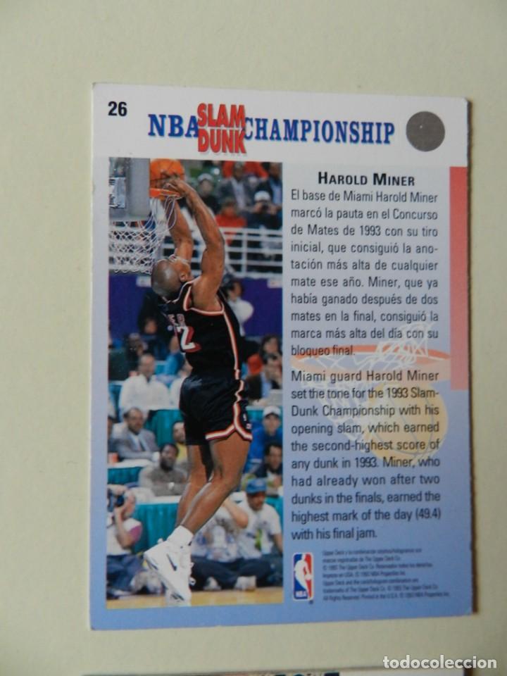 Coleccionismo deportivo: Lote 4 CROMOS UPPER DECK 92-93 NBA 1992 1993 92 93 nº: 9 14 18 y 26 NBA Miner Ewing Malone - Foto 3 - 153049486