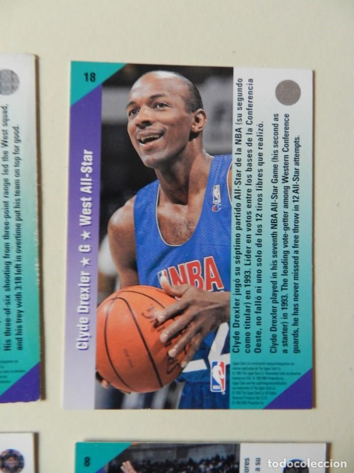Coleccionismo deportivo: Lote 4 CROMOS UPPER DECK 92-93 NBA 1992 1993 92 93 nº: 9 14 18 y 26 NBA Miner Ewing Malone - Foto 4 - 153049486
