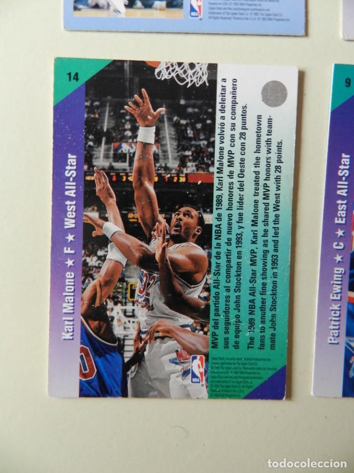 Coleccionismo deportivo: Lote 4 CROMOS UPPER DECK 92-93 NBA 1992 1993 92 93 nº: 9 14 18 y 26 NBA Miner Ewing Malone - Foto 6 - 153049486