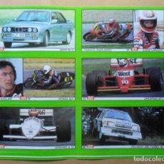 Coleccionismo deportivo: LAMINA CON 6 CROMOS - MOTOR - EDDIE LAWSON - RON HASLAM - DIARIO AS. Lote 153430002