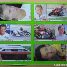 Coleccionismo deportivo: LAMINA CON 6 CROMOS - MOTOR -DE RADIGUES-AUINGER- SANCHEZ MARIN- JOHANSSON-NAKAJIMA - DIARIO AS. Lote 153430390