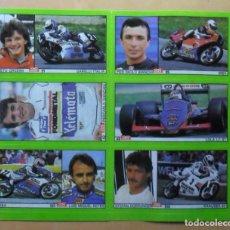Coleccionismo deportivo: LAMINA CON 6 CROMOS - MOTOR - GRESINI-BIANCHI-DORFLINGER-GHIANZANI-REYES - DIARIO AS . Lote 153435290