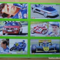 Coleccionismo deportivo: LAMINA CON 6 CROMOS - MOTOR - CHAMPI HERREROS-CHRISTIAN SARRON-PHILIPPE ALLIOT - DIARIO AS. Lote 153435538