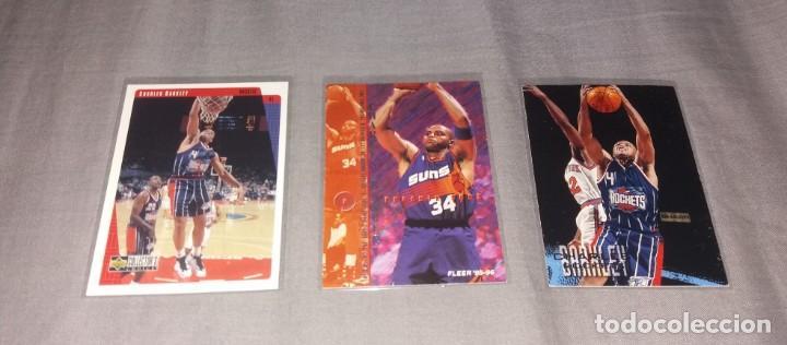 LOTE NBA. CARDS CHARLES BARKLEY (FLEER Y UPPER DECK, 1996-97-98) BALONCESTO (Coleccionismo Deportivo - Cromos otros Deportes)