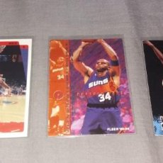 Coleccionismo deportivo: LOTE NBA. CARDS CHARLES BARKLEY (FLEER Y UPPER DECK, 1996-97-98) BALONCESTO. Lote 154859690