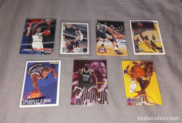 LOTE NBA. CARDS SHAQUILLE O'NEAL, 7 DIFERENTES (FLEER Y UPPER DECK) BALONCESTO (Coleccionismo Deportivo - Cromos otros Deportes)
