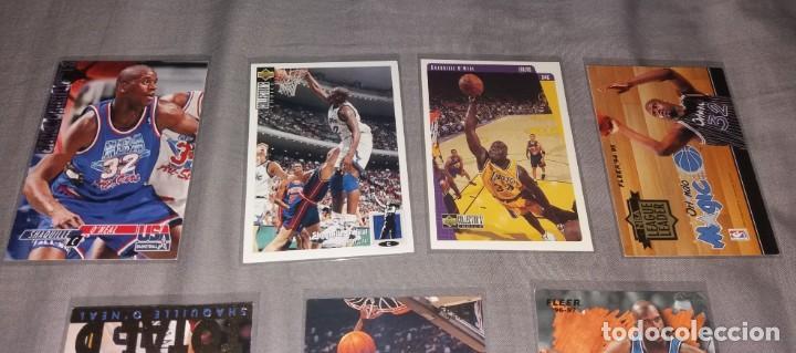 Coleccionismo deportivo: Lote NBA. Cards Shaquille O'Neal, 7 diferentes (Fleer y Upper Deck) baloncesto - Foto 2 - 154860498