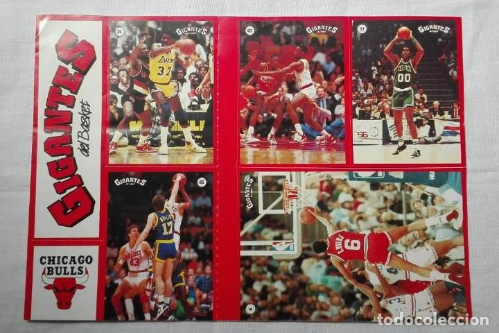 Coleccionismo deportivo: LOTE DE 2 PLIEGOS PEGATINAS STICKERS BALONCESTO GIGANTES DEL BASKET CHICAGO BULLS Y NBA AÑOS 80 - Foto 2 - 156898222