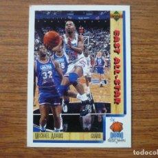 Collezionismo sportivo: UPPER DECK 1992 NBA Nº 8 MICHAEL ADAMS (EAST ALL STAR) - CROMO BASKETBALL 92 . Lote 158933306