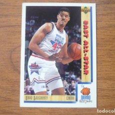 Collezionismo sportivo: UPPER DECK 1992 NBA Nº 13 BRAD DAUGHERTY (EAST ALL STAR) - CROMO BASKETBALL 92 . Lote 158933898