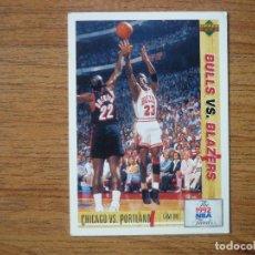 Collezionismo sportivo: UPPER DECK 1992 NBA Nº 172 NBA FINALS BULLS VS BLAZERS MICHAEL JORDAN - CROMO BASKETBALL 92 . Lote 159106386