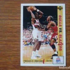 Collezionismo sportivo: UPPER DECK 1992 NBA Nº 174 NBA FINALS BULLS VS BLAZERS DREXLER MICHAEL JORDAN - CROMO BASKETBALL 92. Lote 200794173