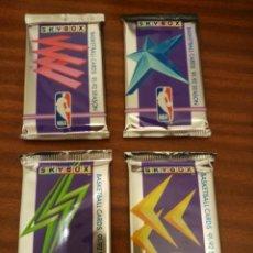 Coleccionismo deportivo: 4 SOBRES SIN ABRIR NBA SKYBOX 91-92. Lote 176323625