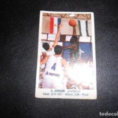 Coleccionismo deportivo: CROMO BASKET BALONCESTO R.JOHNSON NUM 89 GIGANTES DEL BASKET CONVERSE 87 88 NO PEGADO. Lote 160785430