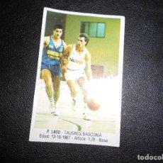 Coleccionismo deportivo: CROMO BASKET BALONCESTO P.LASO NUM 106 GIGANTES DEL BASKET CONVERSE 87 88 NO PEGADO. Lote 160788830