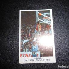 Coleccionismo deportivo: CROMO BASKET BALONCESTO D.RUSSEL NUM119 GIGANTES DEL BASKET CONVERSE 87 88 NO PEGADO. Lote 160789814
