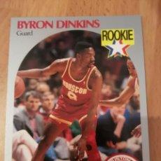Coleccionismo deportivo: BYRON DINKINS 123 NBA HOOPS 1990-91 HOUSTON ROCKETS. Lote 162105253