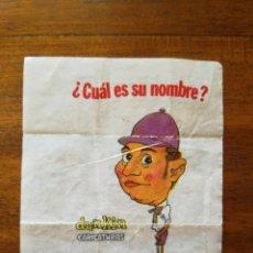 Coleccionismo deportivo: TONY LEBLANC - NÚMERO 37 CHICLES DUNKIN CARICATURAS ¿CUÁL ES SU NOMBRE? SIN PEGAR TENIS. Lote 162353658