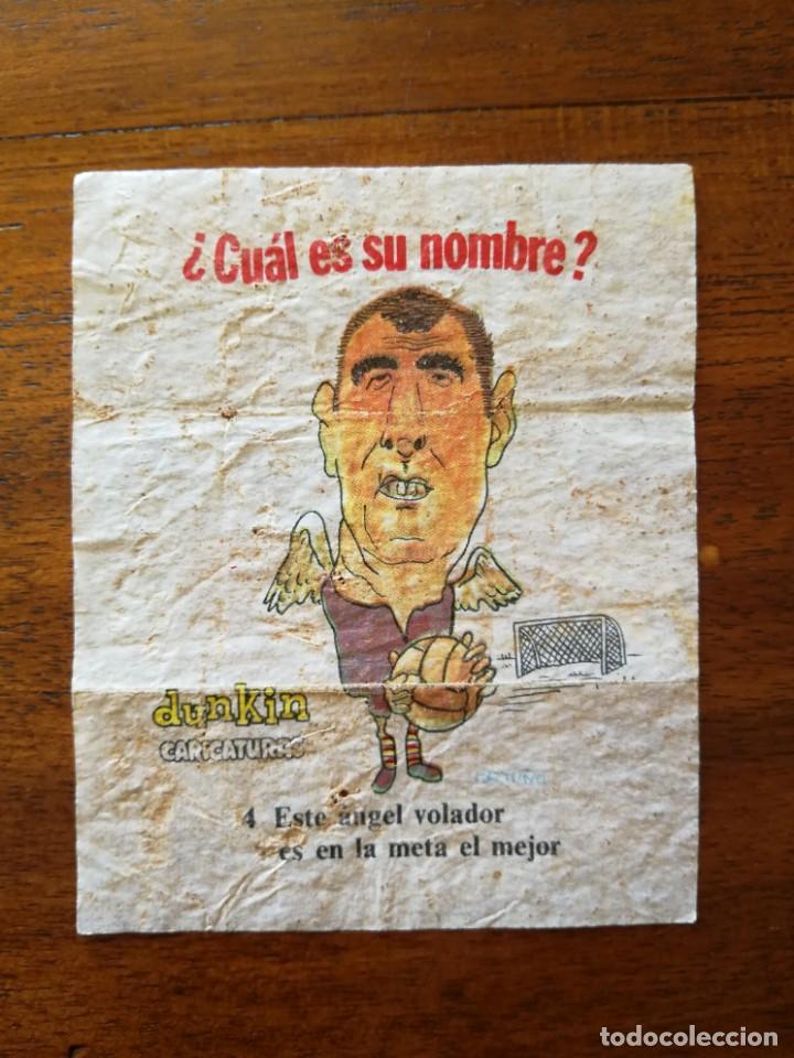 IRIBAR ( ATHLETIC CLUB DE BILBAO) - NÚM. 4 CHICLES DUNKIN CARICATURAS ¿CUÁL ES SU NOMBRE? SIN PEGAR (Coleccionismo Deportivo - Cromos otros Deportes)