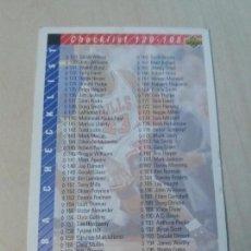 Coleccionismo deportivo: NBA UPPER DECK 92/93 CROMO FICHA Nº 255 CHECKLIST. Lote 162358950