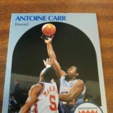Coleccionismo deportivo: ANTOINE CARR 255 NBA HOOPS 1990-91 SACRAMENTO KINGS. Lote 162406640