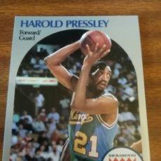 Coleccionismo deportivo: HAROLD PRESSLEY 260 NBA HOOPS 1990-91 SACRAMENTO KINGS. Lote 162407006