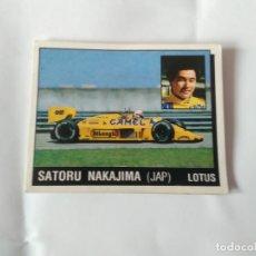 Coleccionismo deportivo: Nº 109 SATORU NAKAJIMA CROMO PANINI 1987 MOTOR ADVENTURES: FÓRMULA 1 MOTOCICLISMO RALLY PARÍS-DAKAR. Lote 163233742