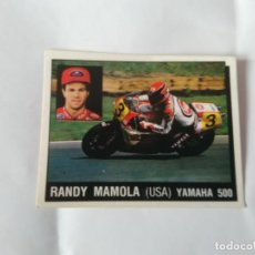 Coleccionismo deportivo: Nº 120 RANDY MAMOLA - CROMO PANINI 1987 MOTOR ADVENTURES: FÓRMULA 1 MOTOCICLISMO RALLY PARÍS-DAKAR. Lote 163235994