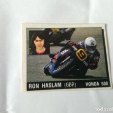 Coleccionismo deportivo: Nº 122 RON HASLAM - CROMO PANINI 1987 MOTOR ADVENTURES: FÓRMULA 1 MOTOCICLISMO RALLY PARÍS-DAKAR. Lote 163236066