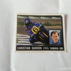 Coleccionismo deportivo: Nº 123 CHRISTIAN SARRON CROMO PANINI 1987 MOTOR ADVENTURES: FÓRMULA 1 MOTOCICLISMO RALLY PARÍS-DAKAR. Lote 163236478
