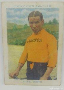 Cromo antiguo ciclismo Nº 2 Miguel Bover, chocolates Amatller