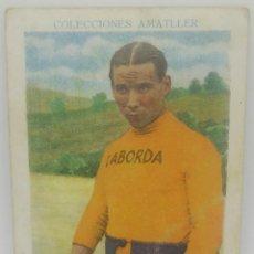 Coleccionismo deportivo: Nº 2 CICLISMO. COLECCIONES AMATLLER. CROMO MIGUEL BOVER OBSEQUIO DE CHOCOLATES AMATLLER. 11X7,5CM. Lote 165038918