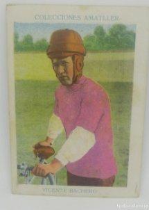 Cromo antiguo ciclismo Nº 7 Vicente Bachero, chocolates Amatller