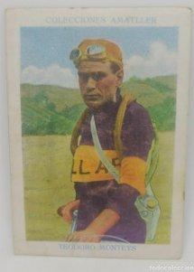 Cromo antiguo ciclismo Nº 10 Teodoro Monteys, chocolates Amatller