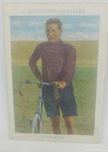 Cromo antiguo ciclismo Nº 13 Juan Juan, chocolates Amatller