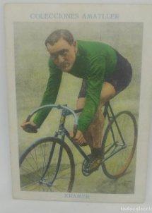 Cromo antiguo ciclismo Nº 23 Kramer, chocolates Amatller
