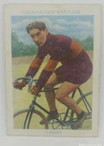Cromo antiguo ciclismo Nº 24 Linart, chocolates Amatller