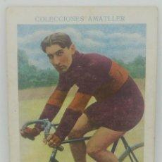 Coleccionismo deportivo: Nº 24 CICLISMO. COLECCIONES AMATLLER CROMO LINART OBSEQUIO DE CHOCOLATES AMATLLER. 11X7,5CM. Lote 165040886