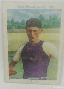 Cromo antiguo ciclismo Nº 16 Pocovi, chocolates Amatller