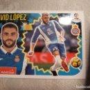 Coleccionismo deportivo: ESTE 2018 2019 PANINI 8 DAVID LOPEZ (ESPANYOL ESPAÑOL). Lote 165635726
