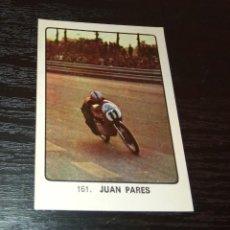Coleccionismo deportivo: -CROMO MOTOCICLISMO KEISA CAMPEONES DEL DEPORTE MUNDIAL 1974 : 161 JUAN PARES. Lote 166844606