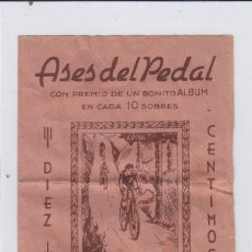 Coleccionismo deportivo: ASES DEL PEDAL. SOBRE VACIO. AÑOS 40S.. Lote 168061332