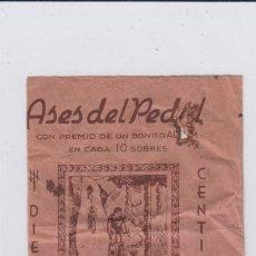 Coleccionismo deportivo: ASES DEL PEDAL. SOBRE VACIO. AÑOS 40S.. Lote 168061444
