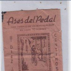 Coleccionismo deportivo: ASES DEL PEDAL. SOBRE VACIO. AÑOS 40S.. Lote 168061500