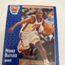 Coleccionismo deportivo: MOOKIE BLAYLOCK 128 NBA FLEER 91 NEW JERSEY NETS. Lote 168676082