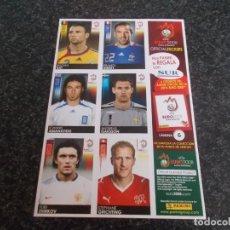 Coleccionismo deportivo: CROMOS // HOJA CON 6 CROMOS DE UEFA 2008//. Lote 170211156